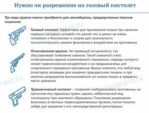 Газовое оружие нужно ли разрешение в россии