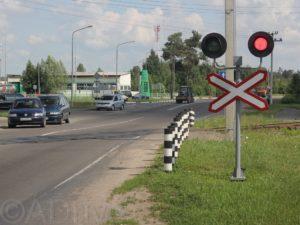 Выезд на железнодорожный переезд на запрещающий сигнал семафора