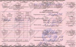 Лицензия на охоту цена московская область