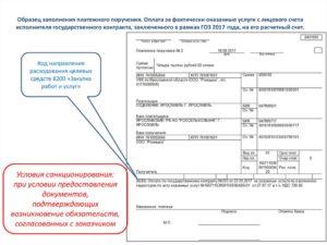 Код вида операции в платежном поручении казначейства
