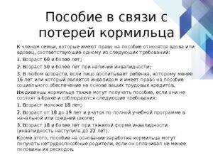 Пособие по потере кормильца в 2019 году в беларуси