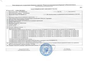 Документы в кадастровую палату для изменения кадастрового паспорта