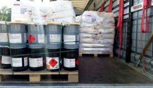 Перевозка опасных грузов в таре