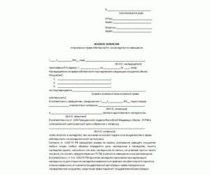 Исковое заявление о праве собственности на дом по наследству