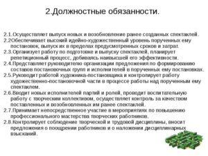 Должностная инструкция директора культуры