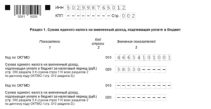 Заполнение декларации по налогу на имущество за 2019 год пример