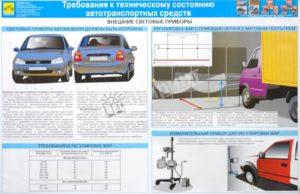 Авто должны быть укомплектованы и необходимо вести журнал комплектности авто