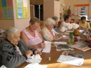 Литературный клуб для пожилых людей