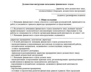 Должностная инструкция директора по инвестиционному управлению