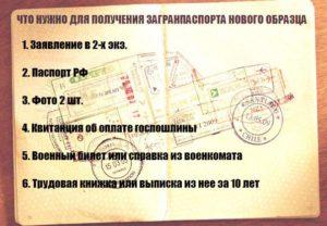 Какие документы требуются для получения загранпаспорта