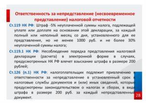Административный штраф на руководителя за несвоевременную сдачу отчетности в 2019