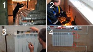 Замена батареи сантехником из управляющей компании отказаться от