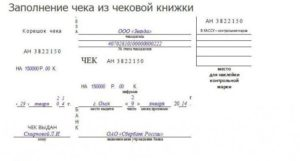 Заполненин бланка на получение чековой книжки в втб