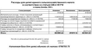 Включение процентов по кредиту в расходы при есхн