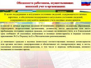 Должностная инструкция специалистам организаций по ведению воинского учета и