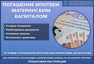 Для погашения ипотеки материнским капиталом документы