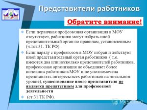 Представительный орган работников и первичная профсоюзная организация