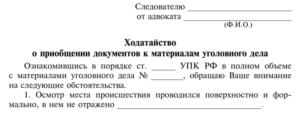 Ходатайство о предоставлении копий документов по уголовному делу