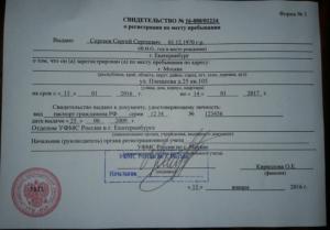 Документы для прописки в перми