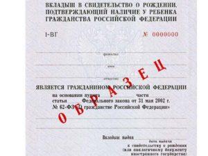 Какие документы надо для оформления гражданства ребенку