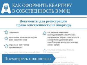 Документы для регистрации права собственности на квартиру в мфц