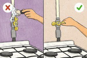 На какое время могут отключить газ для устранения утечки