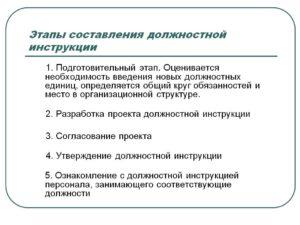 Порядок составления должностной инструкции основные разделы инструкции
