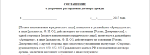 Письмо о расторжении договора аренды по инициативе арендатора образец в последующий субаоендой