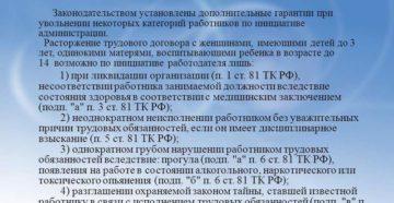 Трудовой кодекс гарантии работникам при увольнении